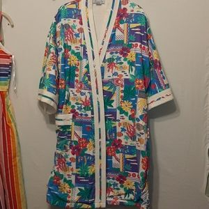 VINTAGE SAY-LU BATH ROBE / SWIM COVER